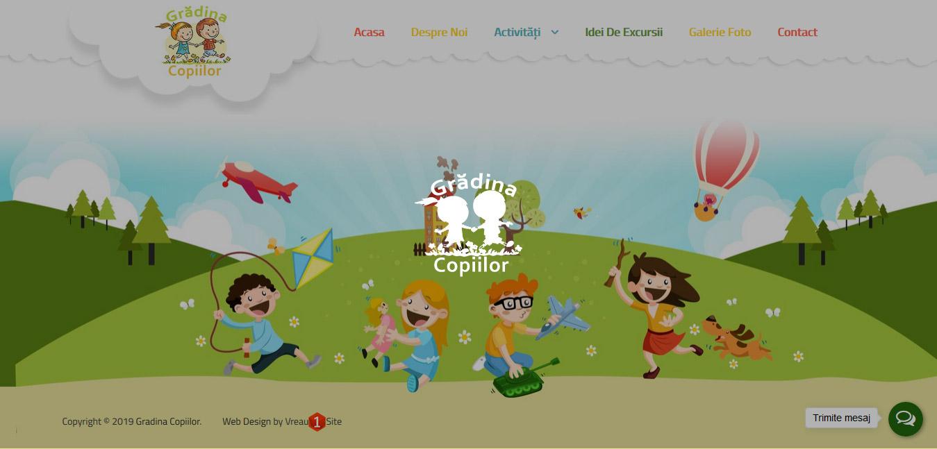 Web design site Gradina Copiilor